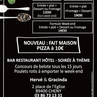 Flyers A5 restaurant L'Escale sur Armanço