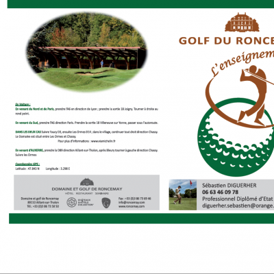 pochette rabats Golf du Roncemay