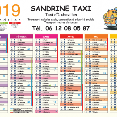 Calendriers Sandrine Taxi R