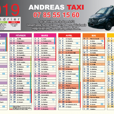 Calendriers Andréas Taxi R